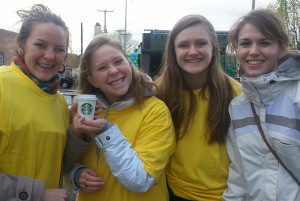 Starbucks and volunteers